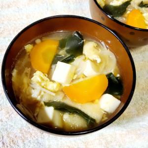 大根と豆腐のかき玉汁