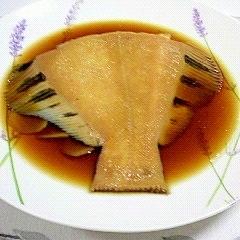 黒カレイの生姜入り煮つけ