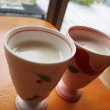 砂糖不使用おやつ☆甘酒と豆乳で、杏仁豆腐(もどき)