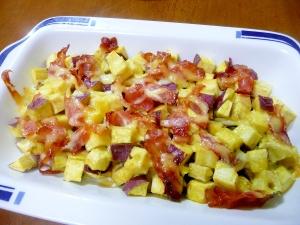 コロコロさつま芋とベーコンのマヨネーズ焼き