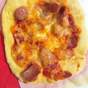 アメリカンなウィンナーピザ