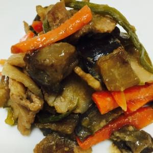 【簡単】豚バラと野菜の甘味噌炒め