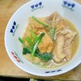 辛み鍋/厚揚小松菜鶏皮春雨
