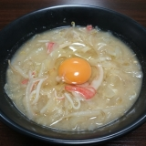 【簡単1人鍋】北海道風カニ味噌鍋(カニかま)