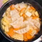 餃子入り❤具沢山お味噌汁