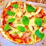 米粉+薄力粉☆フワっふわっカリッ簡単ピザ