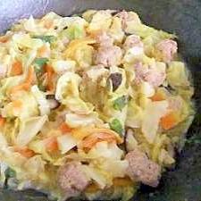 塩味のとろみづけ★野菜たっぷりの肉団子炒め