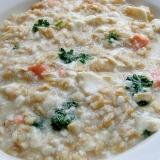 5分で❤塩鮭&豆腐のオートミール粥♪(パセリ)