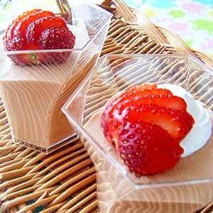 簡単♡おうちバレンタインのチョコムース