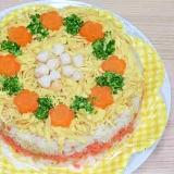 華やかパーティー!チラシ寿司ケーキ♪