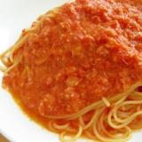 カニ缶で簡単☆カニトマトクリームパスタ