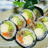 吉野家牛皿アレンジ!栄養満点肉巻き寿司