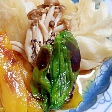 三色野菜の焼き浸し(キャベツ・パプリカ・シシトウ)