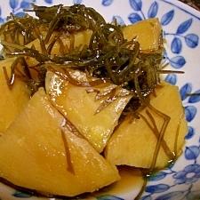 おかずになる☆サツマイモと糸昆布の煮物
