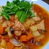 多品目摂取!モロッコ風(?)鶏のトマト煮&クスクス