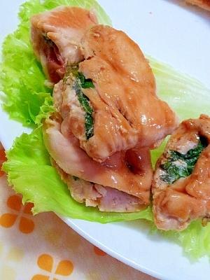 鶏むね肉の大葉はさみ焼き