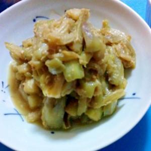セロリとナスの味噌炒め