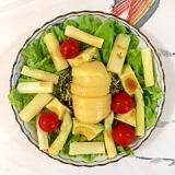 リーフレタス 、ホワイトアスパラのサラダ