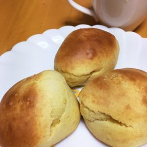 ホットケーキミックスで作ったパン♪