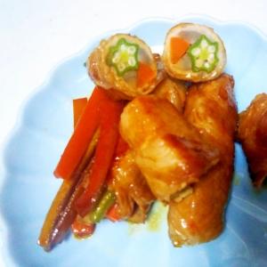野菜3種の豚肉巻き++