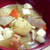 里芋を入れてとろみが美味しい豚汁