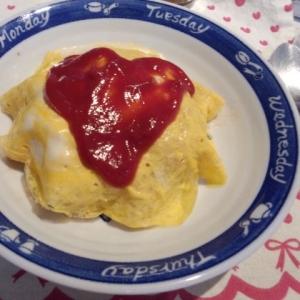炊飯器de簡単‼チキンライスで☆☆オムライス☆☆