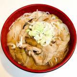干し椎茸と豚肉の☆ツルツル温麺
