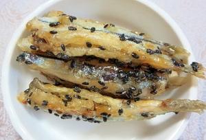 胡麻風味が美味しい小魚の甘酢