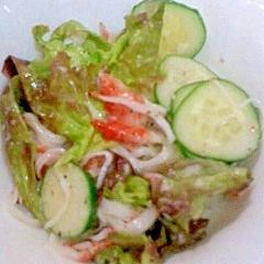 カニかまとサニーレタスのサラダ