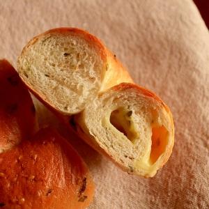 大葉とチーズのベーグル