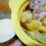 鶏手羽元と馬鈴薯のシリコンスチーマ/大蒜マヨソース
