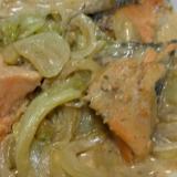 白菜とシャケ煮