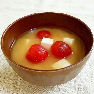 豆腐とトマトのみそ汁