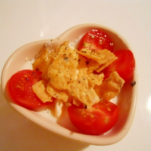 アイスとトマト♪ オイル&ペッパーでヨーグルト