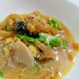昆布つゆで簡単☆豚肉と小松菜の卵とじ