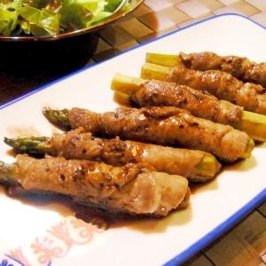 アスパラの豚肉巻き~バルサミコソース