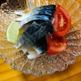 しめ鯖と大根のトマトサラダ