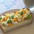 卵サラダと枝豆のトースト