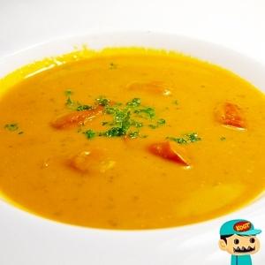 カボチャのソーセージスープ