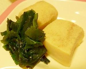 高野豆腐とわかめのたいたん