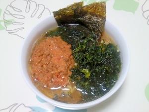 海藻ピリ辛納豆ラーメン++