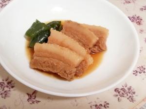 レンジで簡単作りおき♪豚バラブロック肉でラフテー