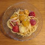 ミニトマトのスパゲティサラダ