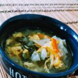 残り野菜で、ほっこり卵スープ♡