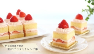 苺のスクエアショートケーキ【No.350】