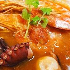 海老タコスープ