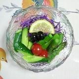 紫キャベツとアスパラのサラダ~♪