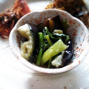 冷やして*茄子と小松菜の煮浸し