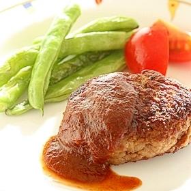 ふわふわ根菜3種のハンバーグ