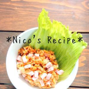 魚肉ソーセージとガリ入り納豆